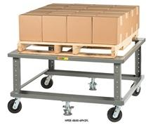 ADJUSTABLE HEIGHT ERGONOMIC MOBILE PALLET STAND
